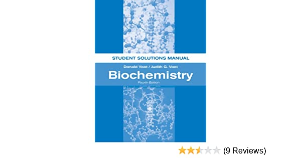 amazon com biochemistry student solutions manual 9781118008140 rh amazon com Biochemistry Book Fundamentals of Biochemistry Voet PDF