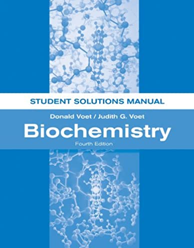 amazon com biochemistry student solutions manual 9781118008140 rh amazon com Principles of Biochemistry Voet Fundamentals of Biochemistry Voet PDF