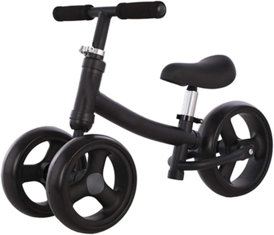 YUMEIGE Bicicletas sin pedales Bicicletas sin pedales Rueda delantera doble 2 en 1, marco de acero con alto contenido de carbono, Bicicleta de Equilibrio para niños el triciclo puede levantar el asien