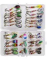 LEAMALLS Señuelos Pesca Artificial Cebos para Anzuelos Pesca, Cucharillas Pesca Accesorios Aparejos De Pesca para la Pesca Ganchos
