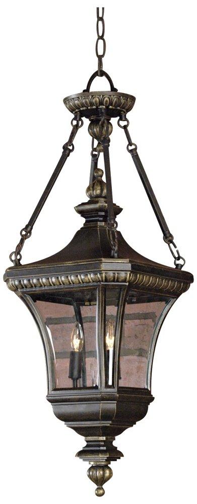 Quoizel DE1490IB 3-Light Devon Outdoor Lantern in Imperial Bronze