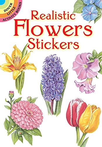 Realistic Flowers Stickers (Dover Little Activity Books Stickers)