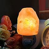 Unilamp Himalayan Salt Lamp, Salt Lamp Night Light with 4 Bulbs,Himalayan Crystal Salt Light Hand Carved Salt Rock Lamp with UL-Approved Wall Plug for Air Purifying, Lighting and Decoration(2-Pack)
