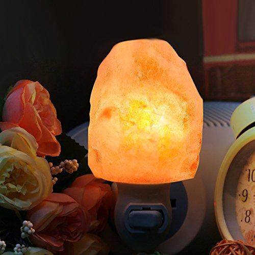 Unilamp Salt Lamp, Himalayan Salt Lamp Night Light with 3 Bulbs,Himalayan Crystal Salt Light Hand Carved Salt Rock Lamp with UL-Approved Wall Plug for Air Purifying, Lighting and Decoration by Unilamp (Image #1)
