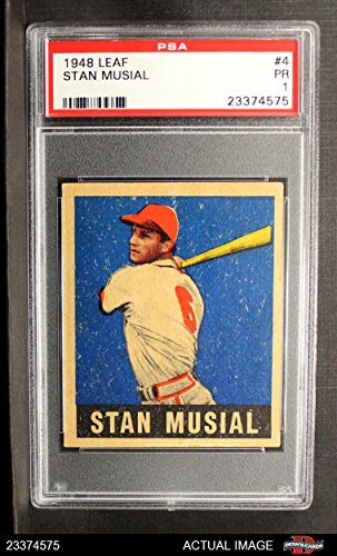 Amazoncom 1948 Leaf 4 Stan Musial St Louis Cardinals