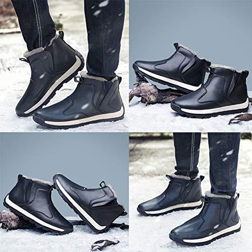Botas de Invierno Hombre Botas de Nieve Calientes Forradas Botines Invierno Antideslizante Aire Libre Botines Nieve: Amazon.es: Zapatos y complementos