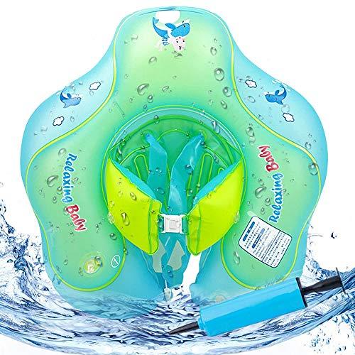 51buM5gNEfL. SS500 Flotador de natación para bebés con asiento y axila de chaleco: es el flotador de bebé de gran diseño con asiento y respaldo ajustable para que el bebé se divierta en la piscina o en la playa Hecho de calidad ambiental de PVC: material duradero e impermeable, no tóxico y seguro para tocar la piel suave del bebé. El proceso y el diseño cumplen los requisitos de las normas internacionales de seguridad de los juguetes. Garantizar la seguridad: 3 diseños de bolsas de aire independientes, cada bolsa de aire se puede inflar por separado para garantizar la seguridad del niño.