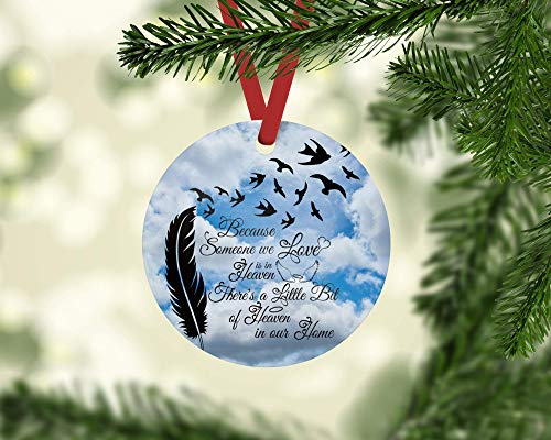 (Because Someone We Love is in Heaven Clouds Christmas Ornament 3