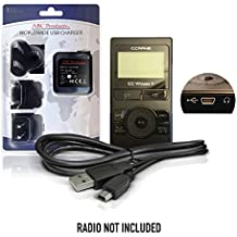 ABC Products® Replacement CCrane / C Crane DC 5V, 5 Volt USB Mains Battery Charger Adapter Adaptor Power Supply Cord for CC Skywave Portable Travel Radio, CC Witness Plus Digital MP3 Recorder Player with Built-in AM FM Radio etc
