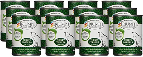 Triumph Turkey Cat Food - 12x13oz
