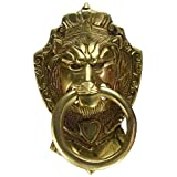 Two Moustaches Brass Victorian Style Lion Mouth Door Knocker Design | Drawer Ring Pull Handle Knob |