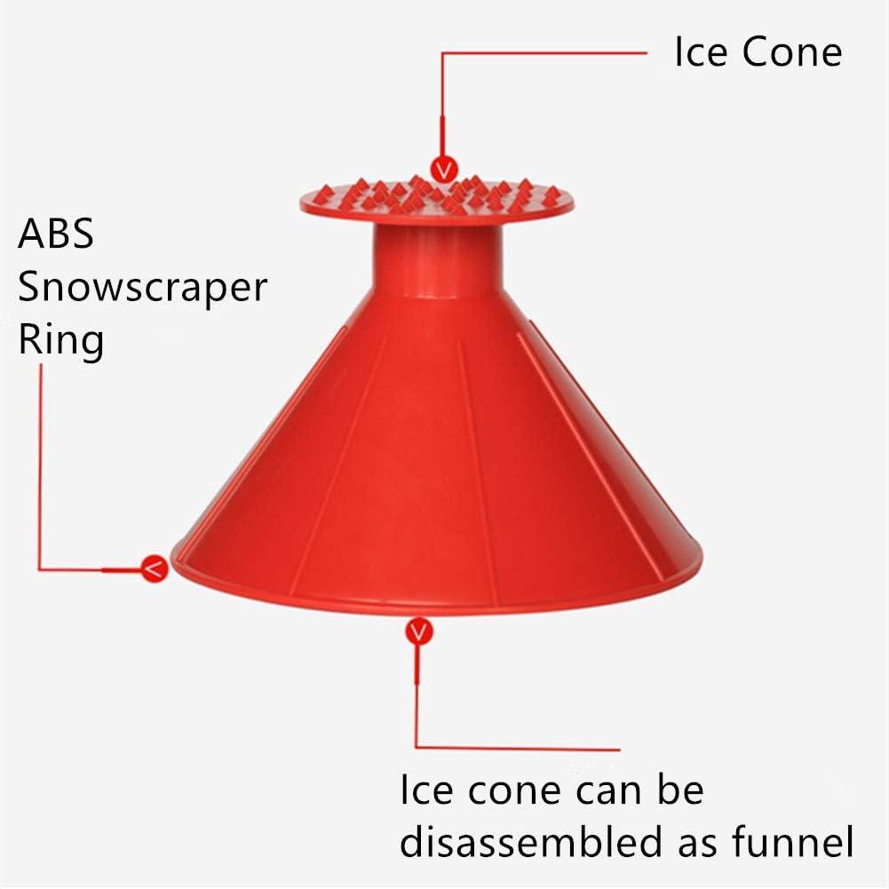 Magic Cone-Shaped Car Windshield Ice Scraper,Larger Coverage Diameter Snow Ice Scraper Funnel Removal Tool Round Windshield Ice Scraper