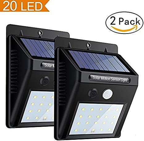 Solar Powered Bright Led Wireless PIR Motion Sensor Security Shed Wall Light