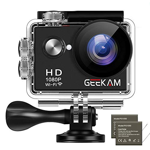 GeeKam W9 Action Camera 1080P Full HD 12MP Underwater Sports Cam with WiFi Waterproof 30m 2