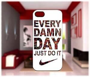 EBestAmShop(TM) Carcasa de Plástico Reforzado Every Damn Day Just Do it Funda Carcasa Protectora Para Apple iPhone 5C