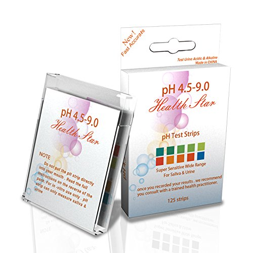 pH Test Strips for Saliva and Urine 125ct - Tests Alkaline & Acid levels  for Body pH Levels Using Saliva
