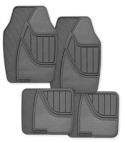 Goodyear GY5004 Gray Universal Premium Rubber and Carpet Floor Mat Set - 4 Piece