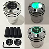 Manual Transmission Speed 5 6 GREEN LED Light Silver Sport Gear Stick Shift Knob JDM Style Auto US Shifter Console Lever