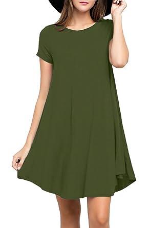 YYWING Women\'s short Sleeve Casual Loose T-Shirt Dress Size 8 - 22 ...