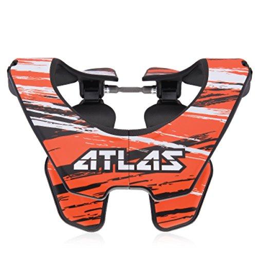 Atlas Prodigy Brace Youth Kid Neck Brace Brush Orange Motocorss MX Protection by Atlas
