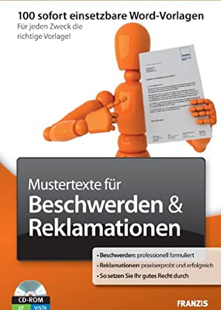 Mustertexte Für Beschwerdenreklamation Amazonde Software