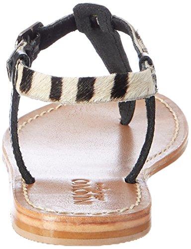 16782474 Femme 7764 Inuovo pewter black Tongs Multicolore zebra E0ddWPqw