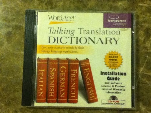 Word Ace! Talking Translation Dictionary {English To/from French, German, Spanish, Italian} (Transparent Language French Dictionary)