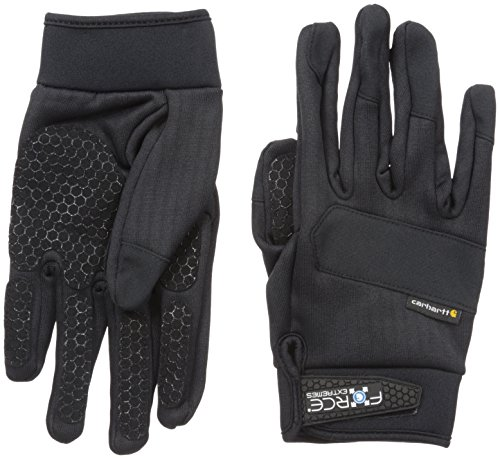 Carhartt Men's Force Extremes Fleece Glove, Black, (Fleece Mens Glove)