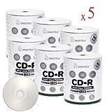 Smartbuy 700mb/80min 52x CD-R Silver Inkjet Hub Printable Blank Recordable Media Disc (3000-Disc)