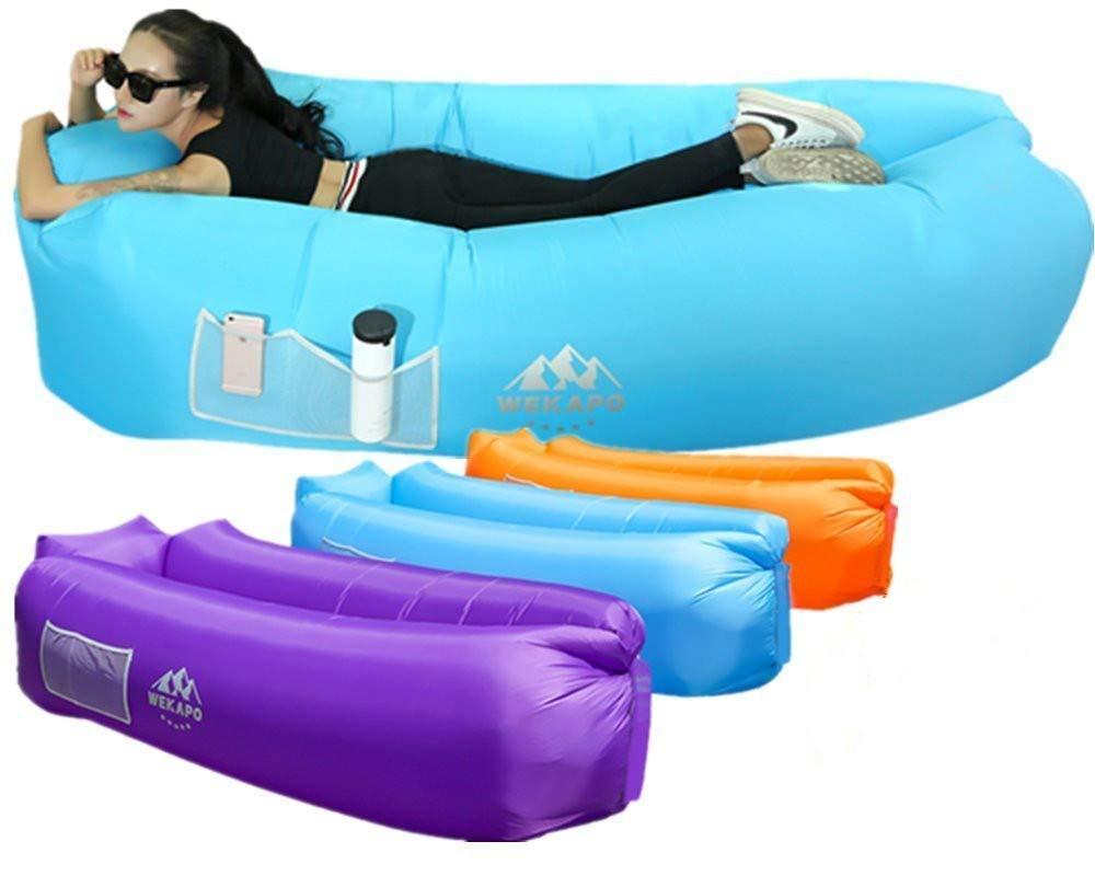 Wekapo aufblasbar Air Liege, Blow up Sofa für Camping, Reisen und Strand