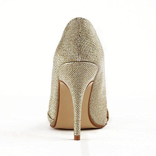 5cm Cuña Con Heel 9 Mujer Gold Miyoopark Sandalias 5YHE1qYw