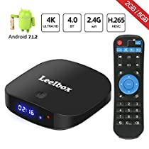 TV Box Android 8.1 - Leelbox Smart TV Box con Telecomando Vocale, Amlogic S905W Quad-Core, 2GB RAM & 16GB ROM,4K Ultra HD, 2.4GHz WiFi, Android Set-Top Box