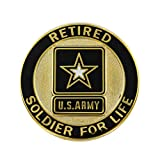 Retired Soldier for Life US Army Lapel Pin Gold by Vanguard