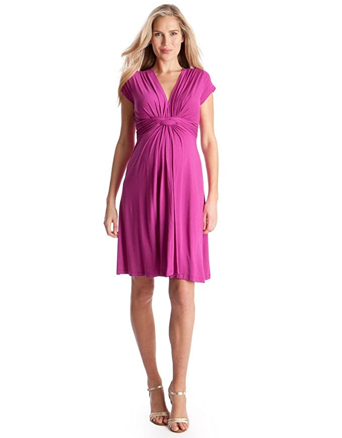 Seraphine Green Knot Front Maternity Dress at Amazon Women\'s ...