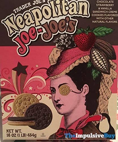 Trader Joe's Neapolitan Joe-Joe's - Sandwich-Creme Cookies NET WT. 16 OZ - -
