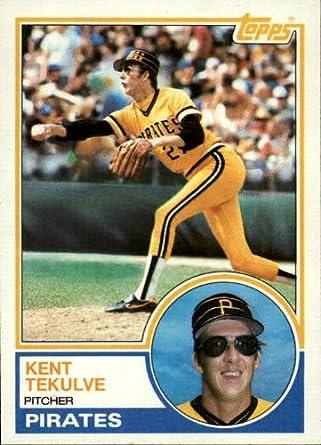 Amazoncom 1983 Topps Baseball Card 17 Kent Tekulve Near