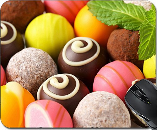 MSD Natural Rubber Mousepad Mouse Pads/Mat design: 28592451 Assorted chocolate truffles and fruit ganache pralines (Filling Truffle)