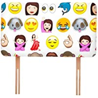 Ready Steady Bed Emoji Emoticons Design Children's Single Headboard 3ft Bed Size Foam Upholstered