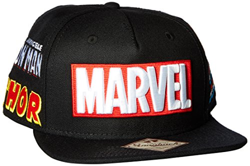 BIOWORLD Marvel Comics Avengers Omni Snapback Cap Multi-Character Logos. Tap  to expand 6db7a1221301