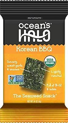 Ocean's Halo Seaweed Snack (1 Case of 12 Units Trays) Korean BBQ