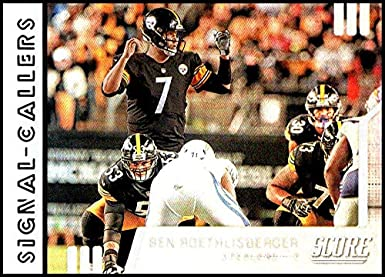 14cf055b016 Amazon.com: 2019 Score Signal Callers #25 Ben Roethlisberger Pittsburgh  Steelers NFL Football Trading Card: Collectibles & Fine Art