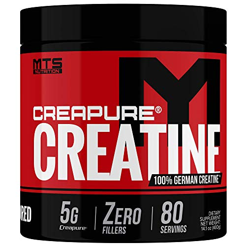 MTS Nutrition Creapure Creatine Powder - Muscle Growth & Recovery Pure German Creatine Supplement - 80 Servings Unflavored