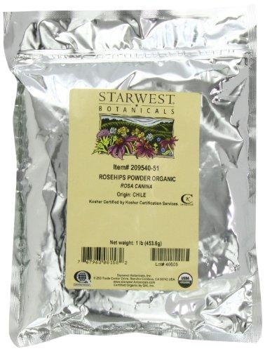STARWEST Botanicals Органические Шиповник порошок, 1-фунтовые мешки (в упаковке 2)