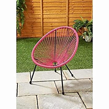Scotrade Kids Hawaii String Super Comfortable Chair Steel Tube Frame  Indoor/outdoor Use   Pink