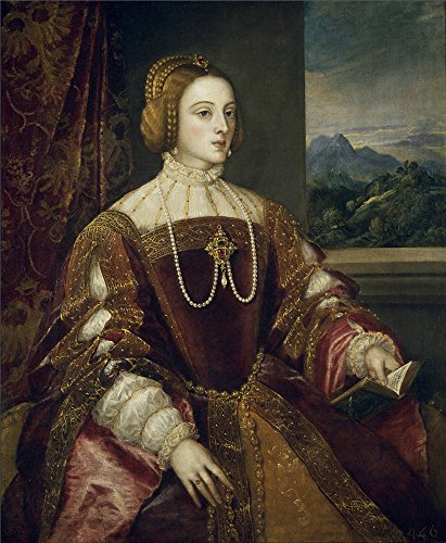 - Polyster Canvas ,the Reproductions Art Decorative Prints On Canvas Of Oil Painting 'Titian [Vecellio Di Gregorio Tiziano] Empress Isabel Of Portugal 1548 ', 30 X 36 Inch / 76 X 93 Cm Is Best For Kitchen Decor And Home Decor And Gifts
