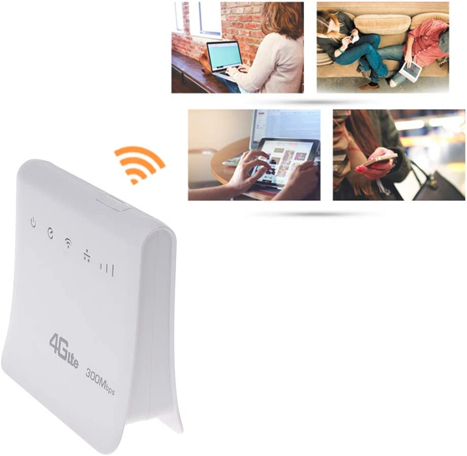 lipiny 4G LTE Wireless Router Unlocked 300Mbps CPE Mobile WiFi Wireless Hotspot Router with LAN Port SIM Slot for Home Travel Outdoor