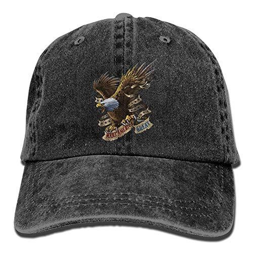 Great American Eagle (SweetieP American Great Eagle Unisex Adjustable Cotton Denim Hat Washed Retro Gym Hat FS&DMhcap Cap Hat)