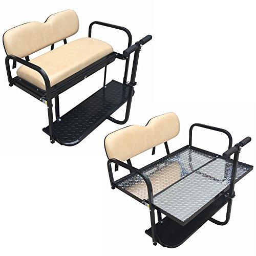 EZGO TXT Golf Cart Rear Flip Back Seat Kit - Factory
