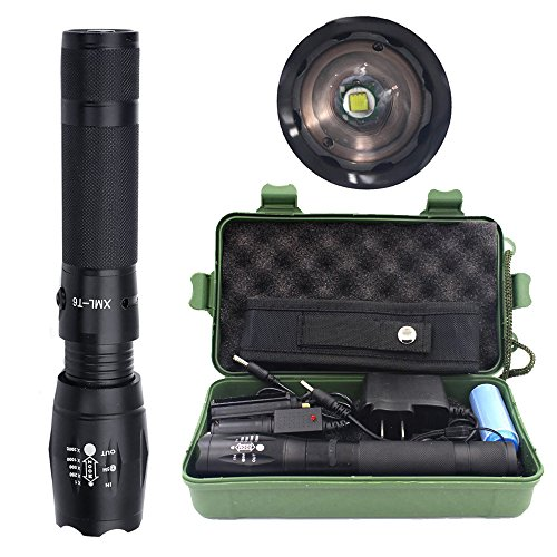 Handheld Flashlights LED Tactical Flashlight, ustopfire Defiant Led  Flashlight 5 Light Modes Zoomable & Weather Resistant Rechargeable Torch