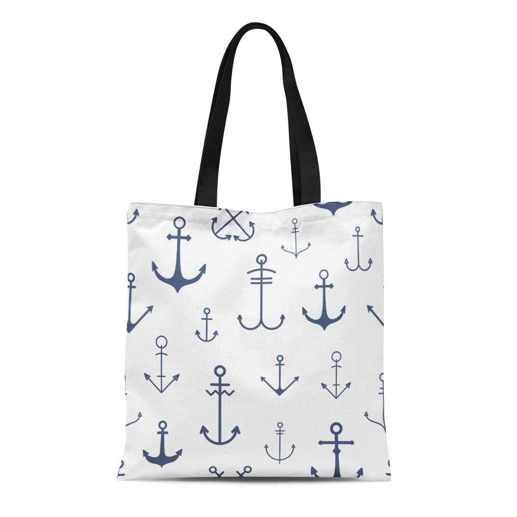 57237512327f Amazon.com: Semtomn Cotton Canvas Tote Bag Blue of Night Stormy Sea ...
